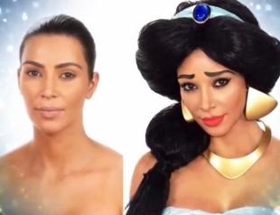 Как Ким Кардашьян превратилась в диснеевскую принцессу Жасмин (ВИДЕО)