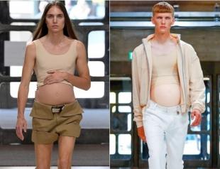 It's a boy: беременные мужчины стали моделями на показе в Лондоне