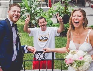 Адам Сэндлер украсил свадебную фотосессию своих поклонников