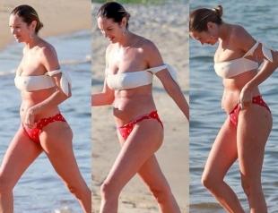 Кэндис Свейнпол попросила не критиковать ее неидеальную фигуру после родов