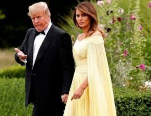 Мелания Трамп восхитила присутствующих королевским нарядом на гала-ужине в Вудстоке