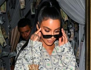 Доллары — хит сезона? Ким Кардашьян вернула моду на денежный принт (ФОТО)