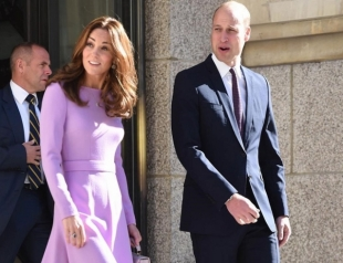 Кейт Миддлтон и принц Уильям совершили первую официальную поездку после рождения третьего ребенка (ФОТО)
