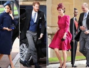 Наследники короны на свадьбе принцессы Евгении: принцы Уильям и Гарри, Кейт Миддлтон и Меган Маркл