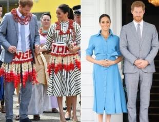 Меган Маркл и принц Гарри на острове Тонга: новые образы герцогини (ФОТО)