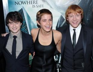 Архивные снимки со съемок фильмов о Гарри Поттере: Гарри, Рон и Гермиона (ФОТО)