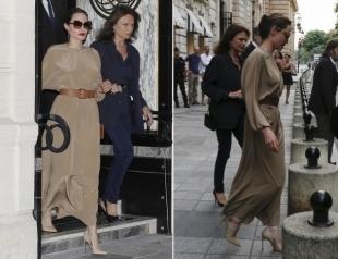Шелк и красная помада: Анджелину Джоли увидели в Париже (ФОТО+ГОЛОСОВАНИЕ)