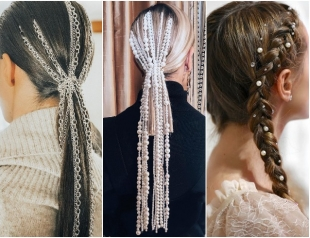 Стразы и цепи вместо заколок: тенденция украшений волос и причесок в 2019 году