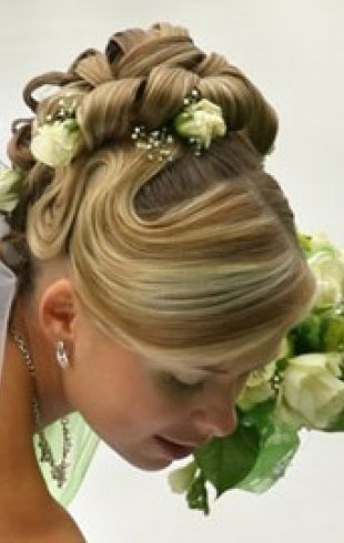 Самые модные свадебные прически 2011