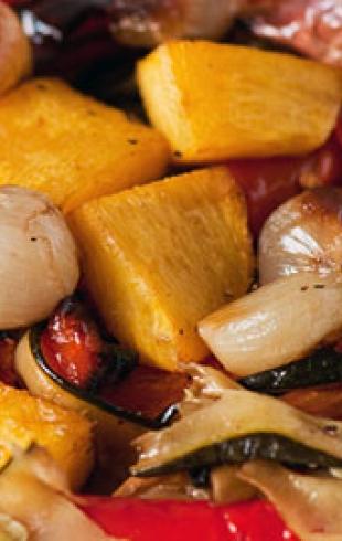 Рецепт постного блюда «Запеченные овощи»