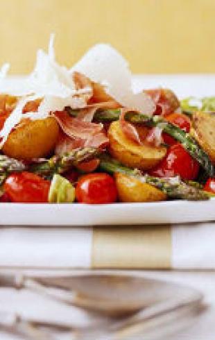 Теплый овощной салат