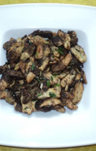 Готовим деликатесы: жареные сморчки