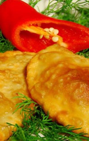 Чебуреки с грибами и сыром