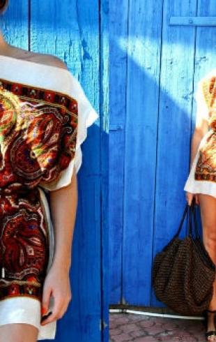 Мастер-класс стилиста: платье-туника из платков