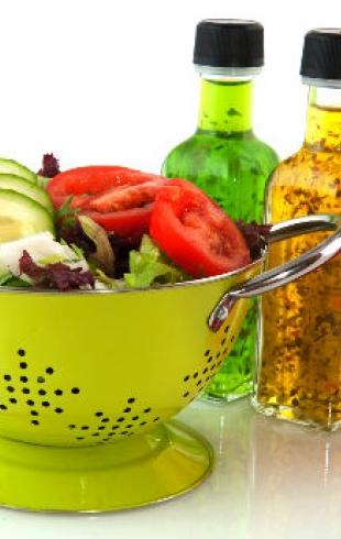 Заправки для летних салатов