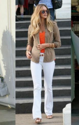 С чем носить белые брюки: 10 вариантов. Видео