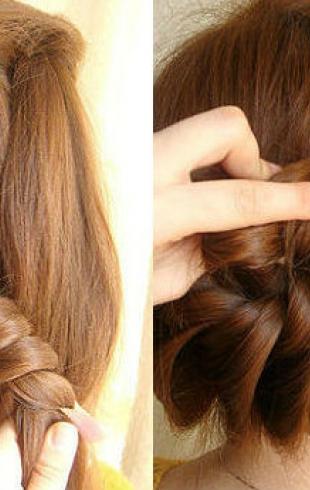 "Мастер-класс: плетение из волос ""Корзинка"""