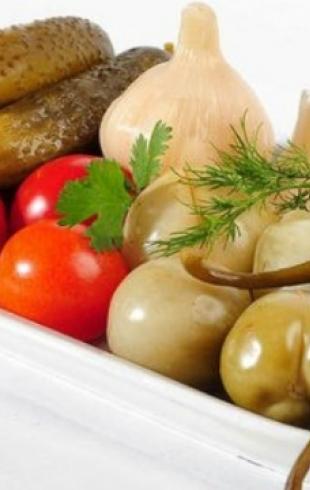 Заготовки на зиму: как солить овощи и фрукты
