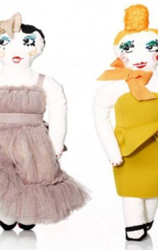 Модный Дом Lanvin выпустил коллекцию рождественских кукол