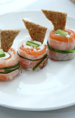 Блюда с норвежской семгой для новогоднего стола