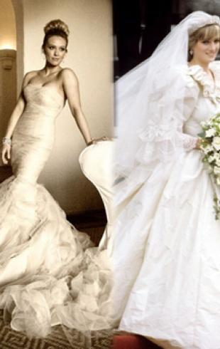 Самые красивые свадебные платья знаменитостей