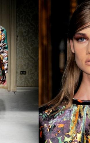 Платье-картина Поля Гогена от Aquilano.Rimondi