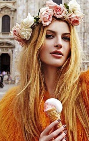 Как носить цветной мех