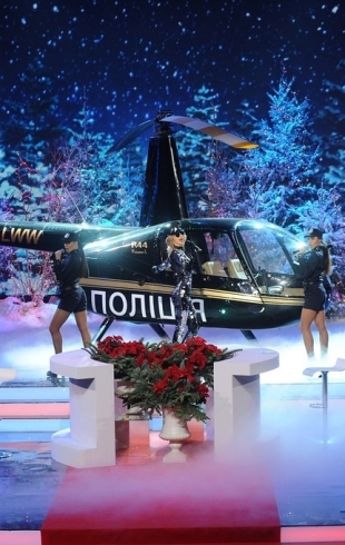 После лишения водительского удостоверения LOBODA пересела на вертолет!