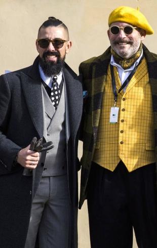 Street style: выставка мужской моды Pitti Uomo во Флоренции