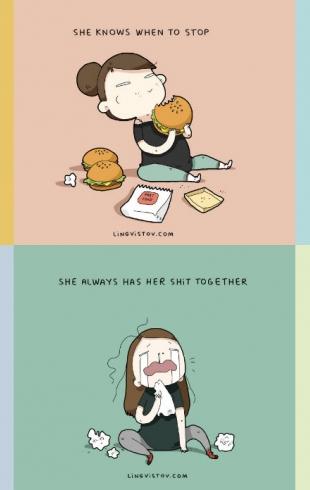 12 причин моей любви к ней: смешные картинки о том, что мужчины терпят каждый день