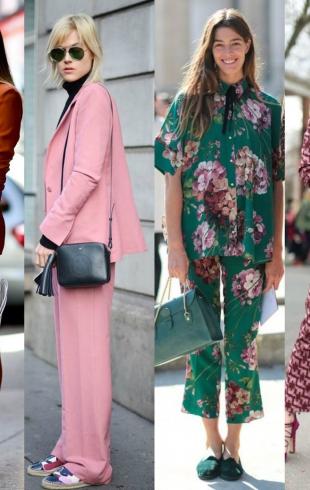 Street style: как и с чем носить брючный костюм весной