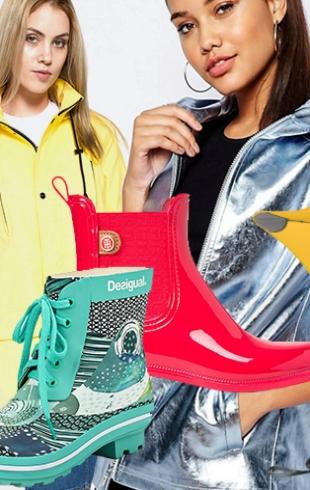 Иди, иди, дождик: стильные дождевики, резиновые сапоги и зонты