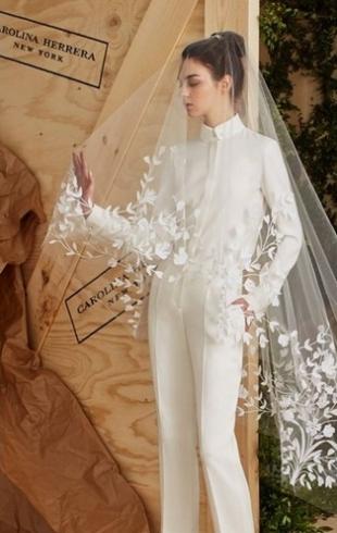 Свадьба в брюках? Коллекция Carolina Herrera Bridal