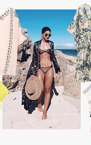 Модная накидка для пляжа: что носить вместо парео