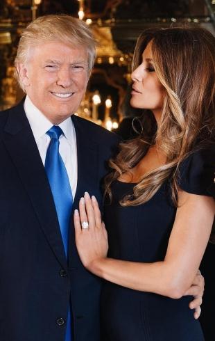Как обычная семья: Мелания и Дональд Трамп с сыном сходили на ужин (ФОТО)