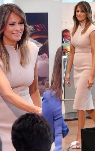 Мелания Трамп появилась в нюдовом платье на приеме в ООН (ГОЛОСОВАНИЕ)