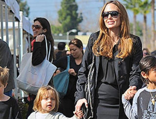 Анджелина Джоли показала округлившийся животик