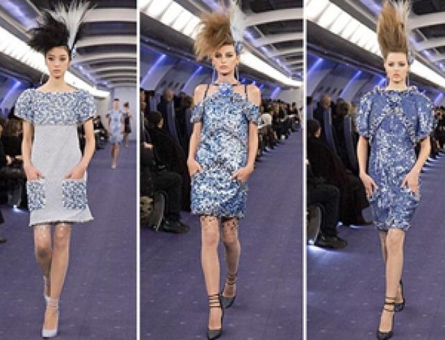 Модный дом Chanel показал шоу в самолете