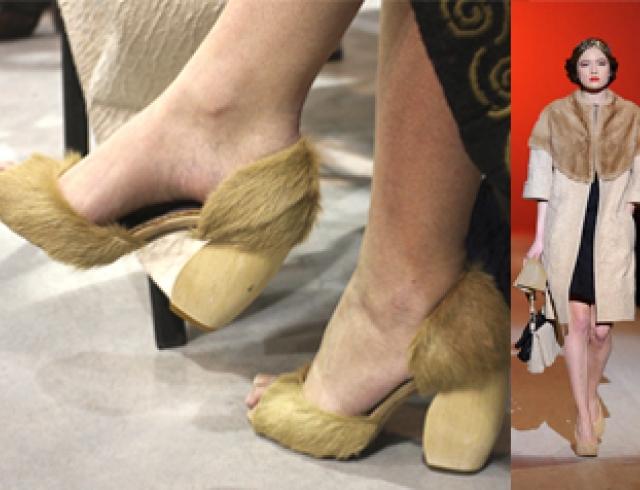 Меховые туфли от Виктории Гресь