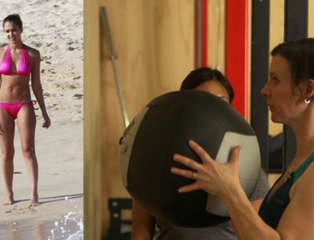 Фитнес-урок: тело, как у Джессики Альбы. Видео