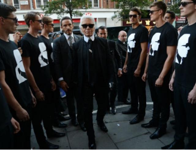 Карл Лагерфельд устроил черно-белую вечеринку. Фото