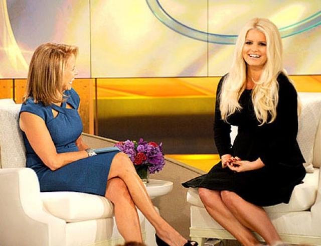 Джессика Симпсон похудела и впервые после родов появилась на ТВ
