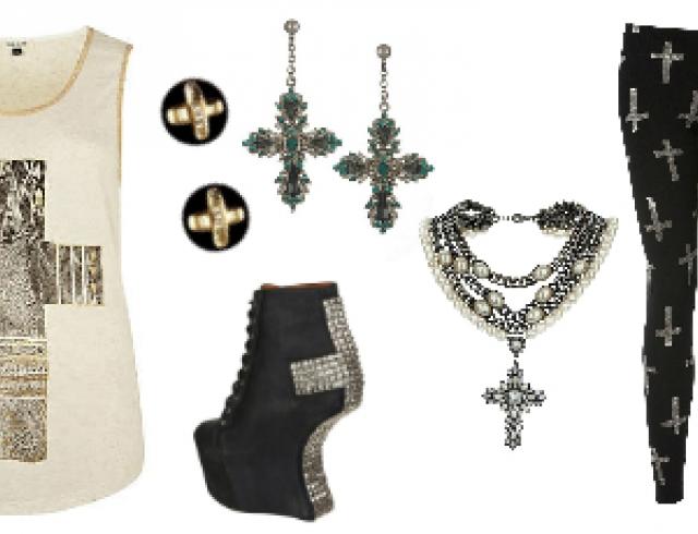 Тренд: кресты в одежде и аксессуарах