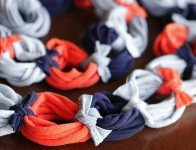 Мастер-класс: шарф из старой футболки
