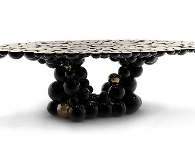 Интерьерные диковинки: стол из пузырьков