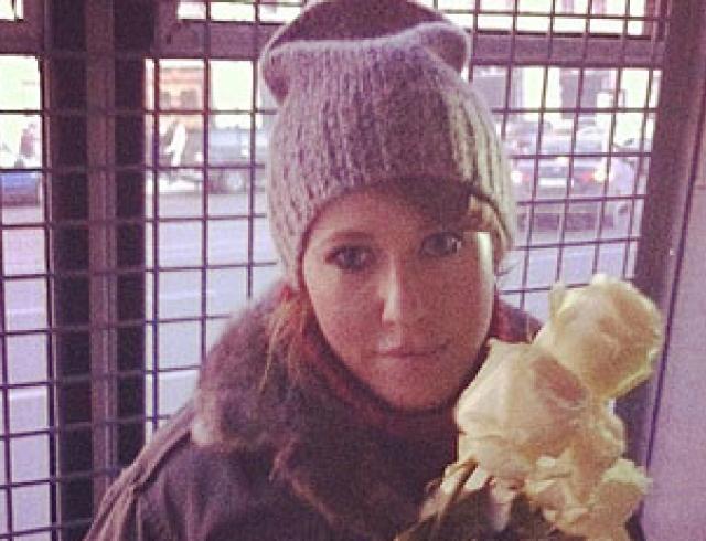 Полиция задержала Ксению Собчак и Илью Яшина. Фото