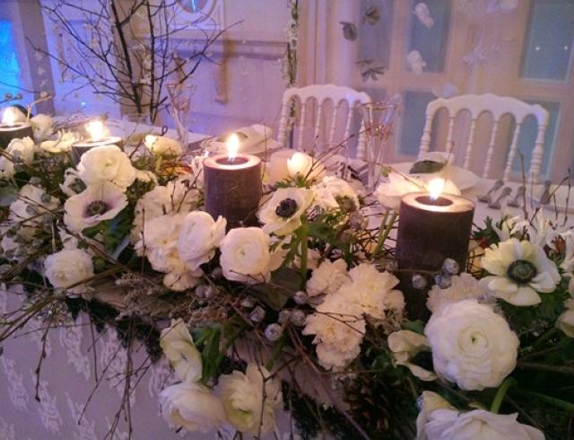Свадьба зимой: варианты декора зала