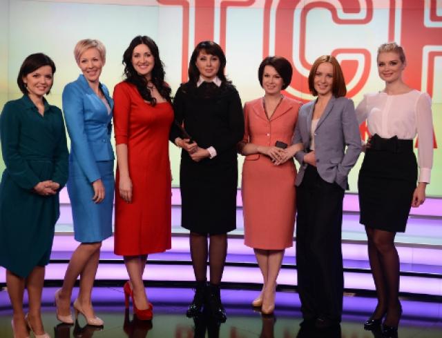 Семь женщин-телеведущих презентовали новую студию ТСН