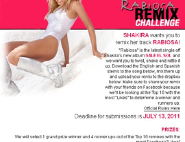Шакира обьявила конкурс для своих поклонников