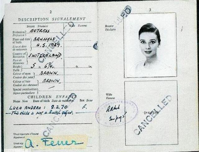Как выглядят паспорта знаменитостей? Фото